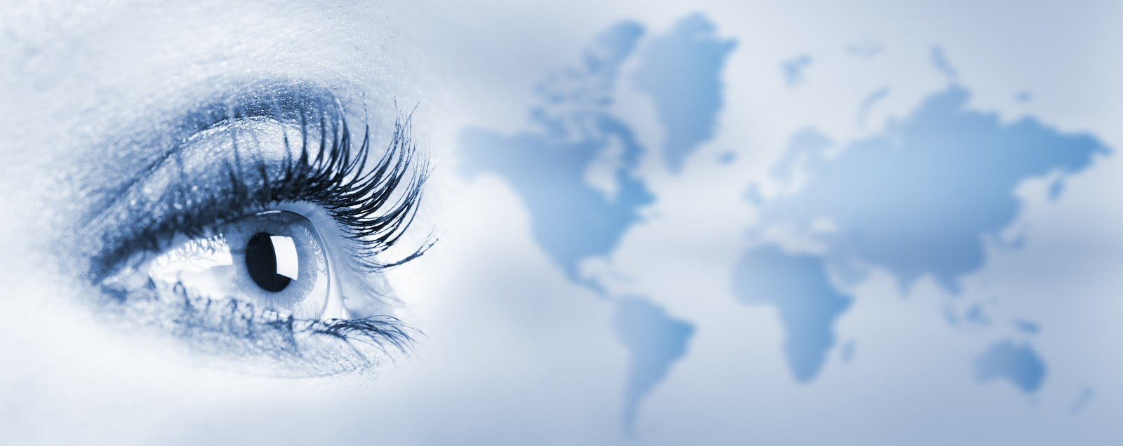 Image of eye looking towards map of world on blue background ... on eye earth, eye mind map, eye egypt, eye clock, home depot map, an old map,